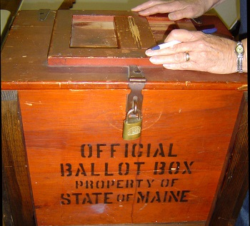 Old Maine Ballot Box