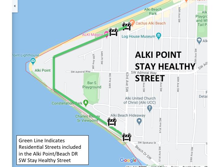 Alki Point Stay Healthy Street
