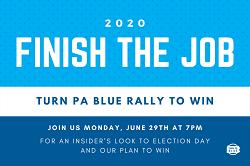 Finish the Job Turn PA Blue Rally
