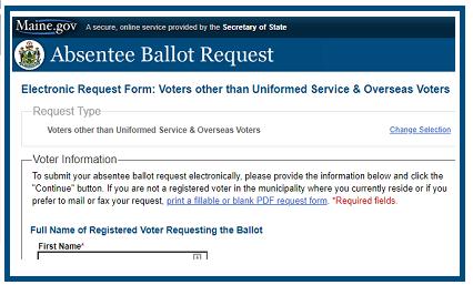 Maineabsentee ballot