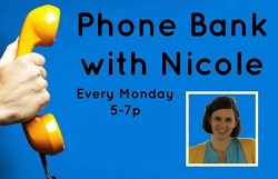 phone bank with Michigan's Nicole