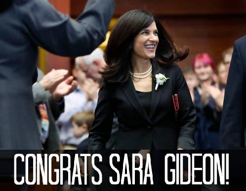 Congratulate Sara Gideon