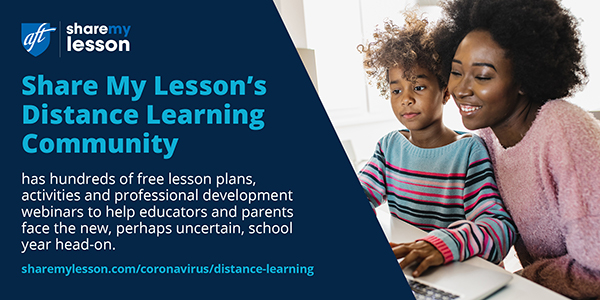 Share My Lesson's Distance Learning Community