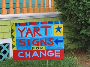 design a campaign sign for a swing state