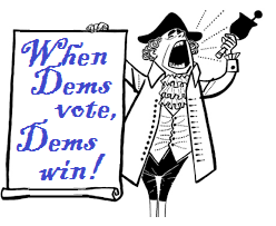 When Dems Vote, Dem's Win