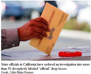 Republicans fake ballot boxes