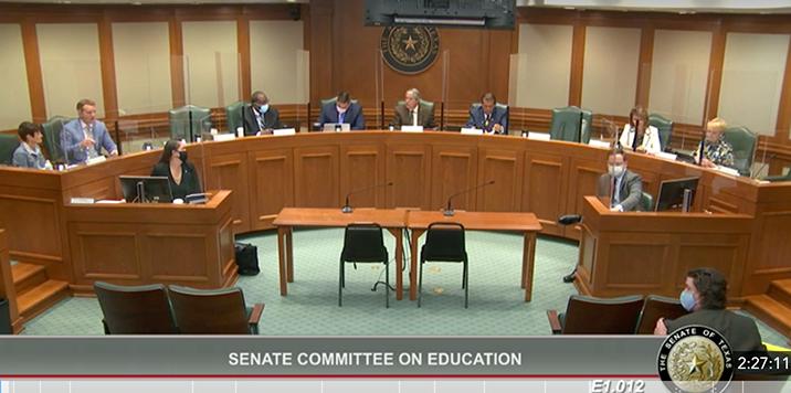 Texas Senate Education Committee meeting