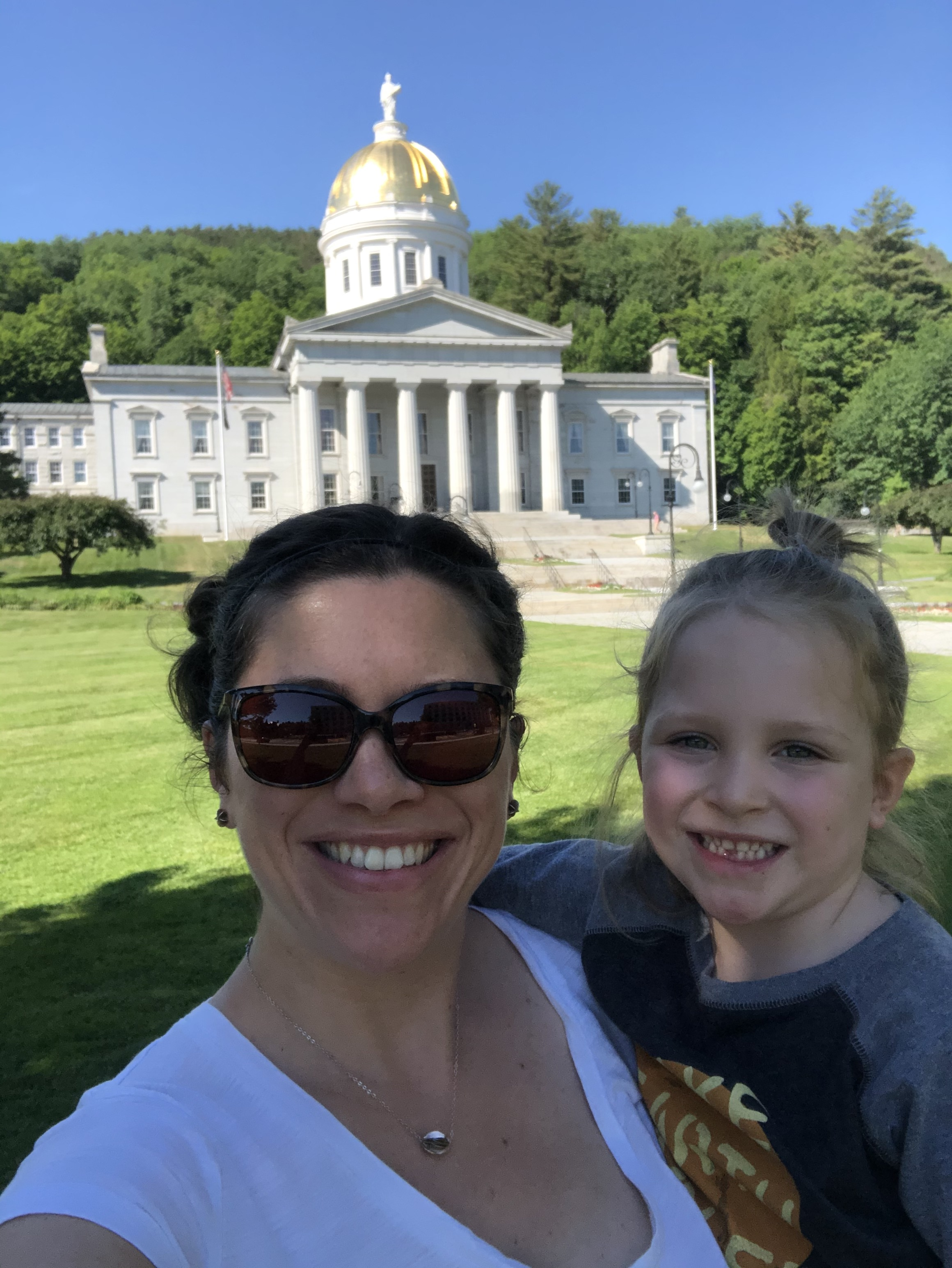 Emma and her daughter visiting the Statehouse this summer.