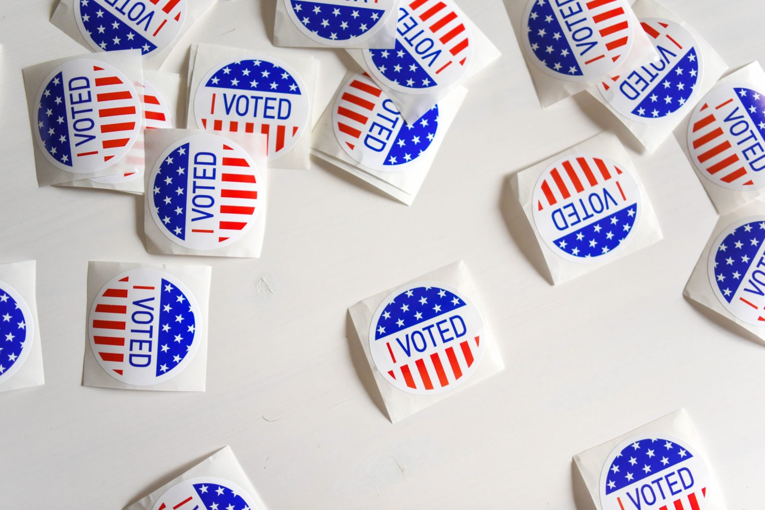 Collection of I Voted Stickers