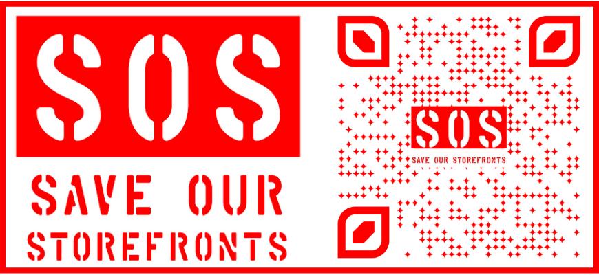 sos logo and qr code to website