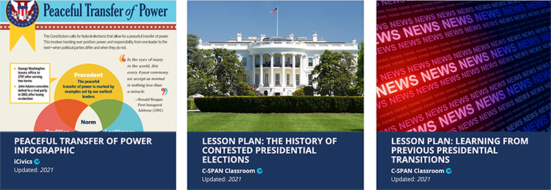 Share My Lesson Course Slides: Flier of Transition Pieces, White House photo