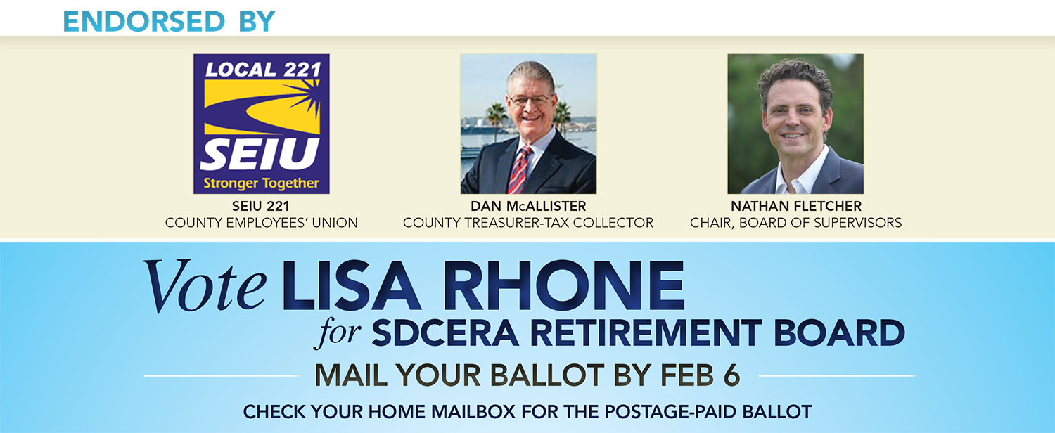 Endorsed by SEIU Local 221DAN MCCALLISTERNATHAN FLETCHER COUNTY EMPLOYEES' UNIONCounty's Treasurer-Tax Collector CHAIRPERSON BOARD OF SUPERVISORS