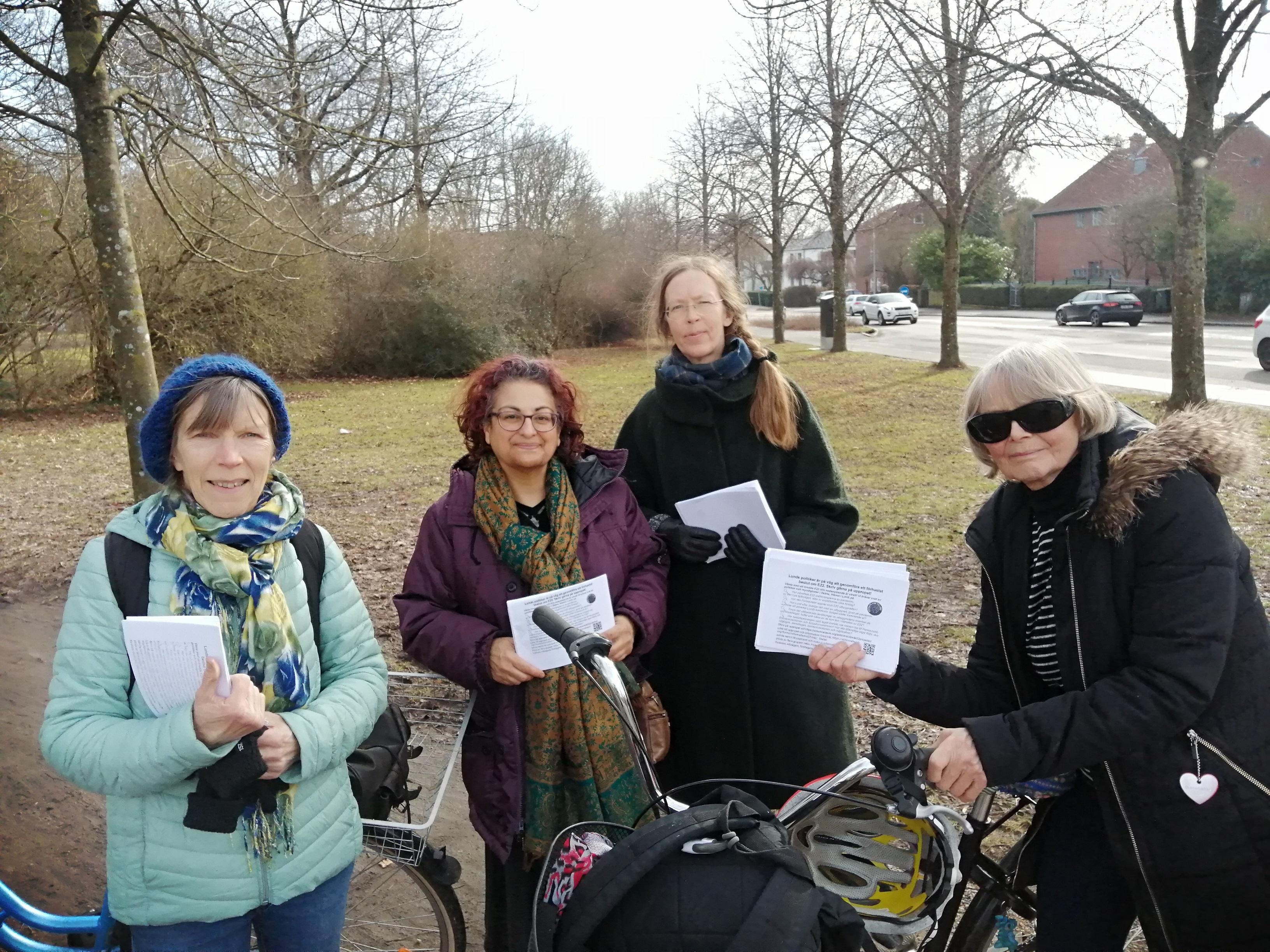 Marja, Sima, Anna, Ninni, Lund, 24-2-21