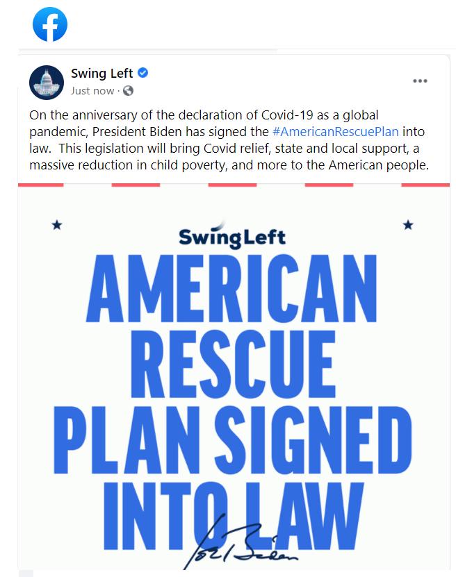 American Rescue Plan on Facebook