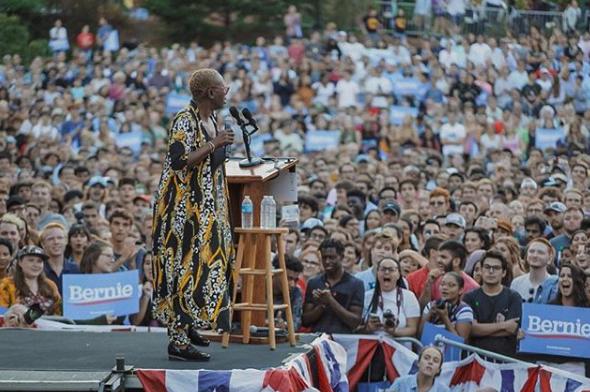 Nina inspires thousands at UNC on the #Bernie2020 tour, September 2019