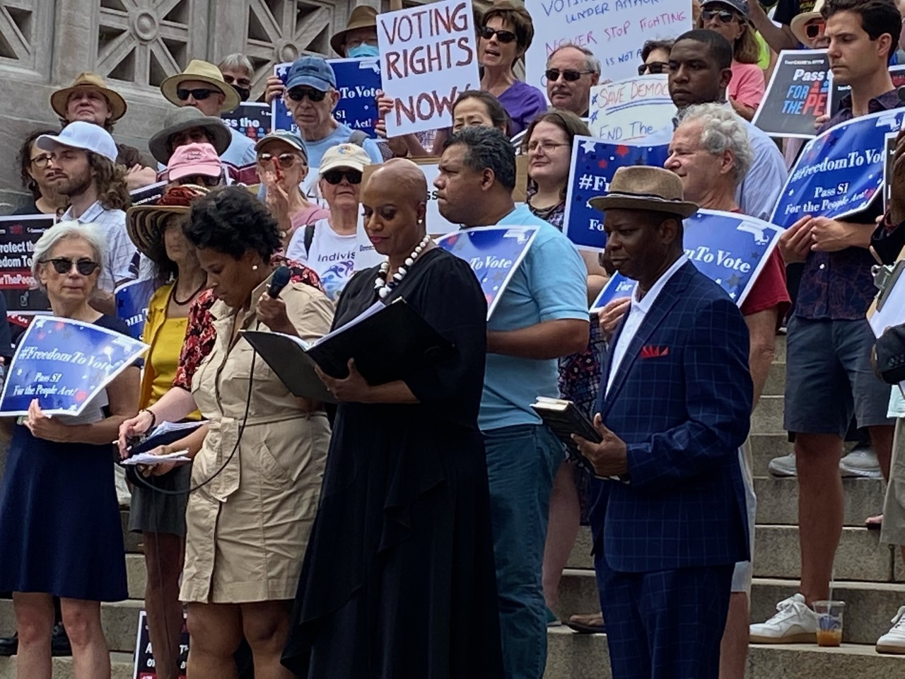 Pressley speaks at Freedom to Vote Rally