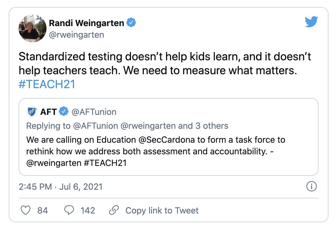 @rweingarten tweet