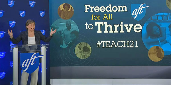 AFT President Randi Weingarten welcomed thousands of educators to TEACH