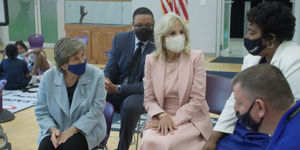 Dr. Biden Payne Elementary school visit