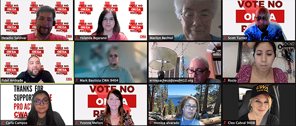 Zoom image from CWA California phone banks