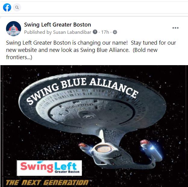 Swing Blue Alliance: The Next Generation